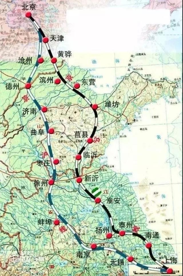 最近山东提出新的滨州-淄博-莱芜-临沂高铁,形成新的京沪二线山东境内