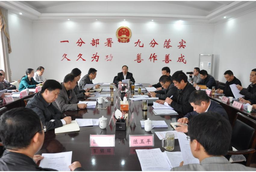 李斌主持召开县政府第7次常务会议